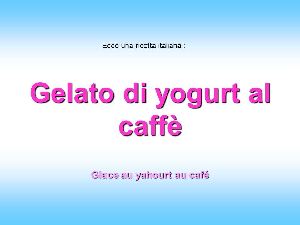 Gelato di yogurt al caffè