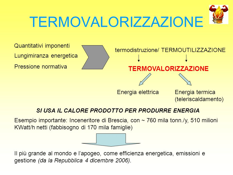 TERMOVALORIZZAZIONE TERMOVALORIZZAZIONE Quantitativi imponenti