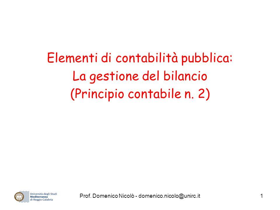 Elementi di contabilità pubblica: La gestione del bilancio