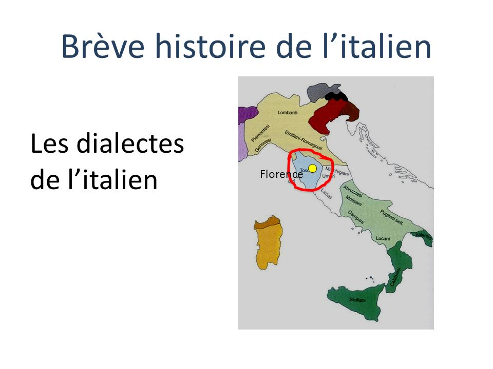 Brève histoire de l'italien