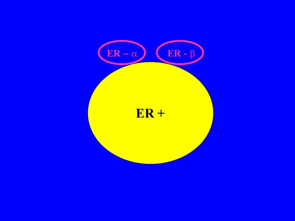 ER – a ER - b ER +