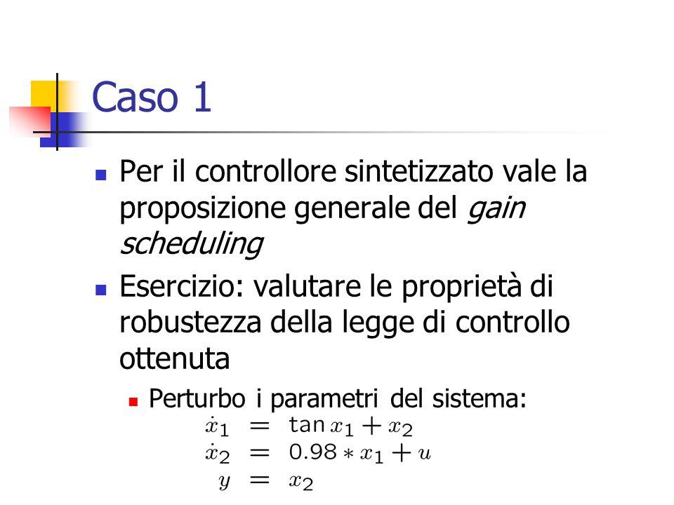 Caso 1 Per il controllore sintetizzato vale la proposizione generale del gain scheduling.