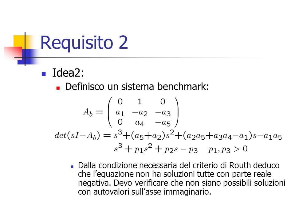 Requisito 2 Idea2: Definisco un sistema benchmark: