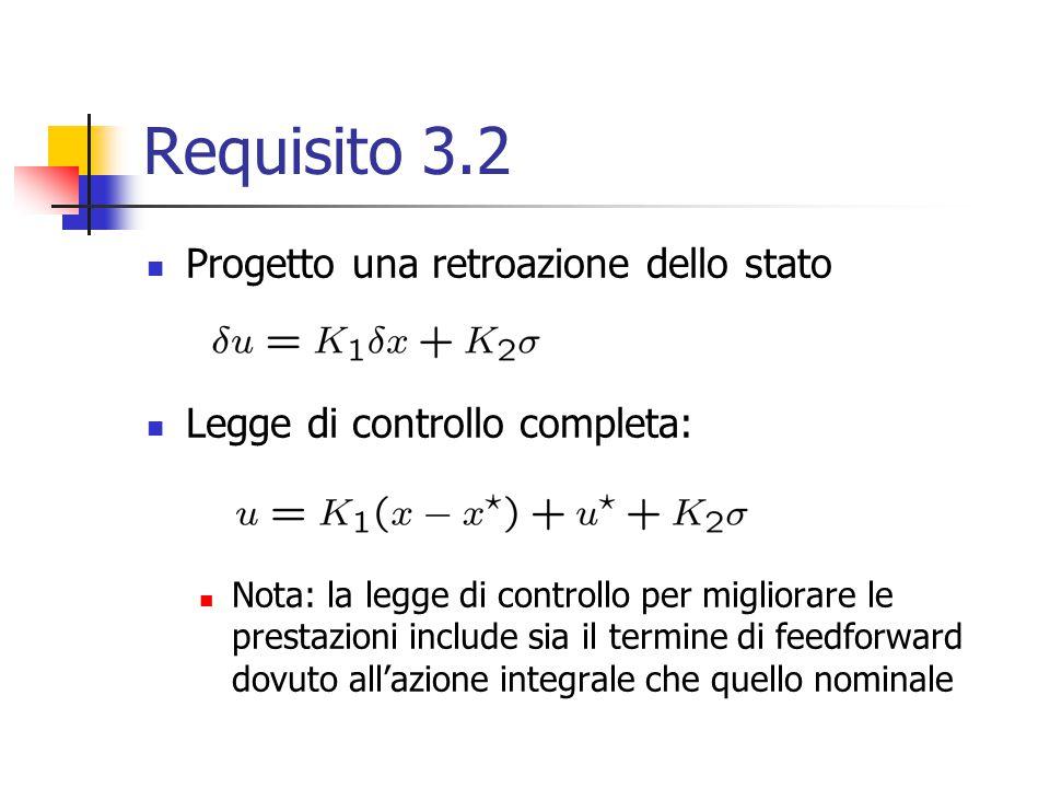 Requisito 3.2 Progetto una retroazione dello stato