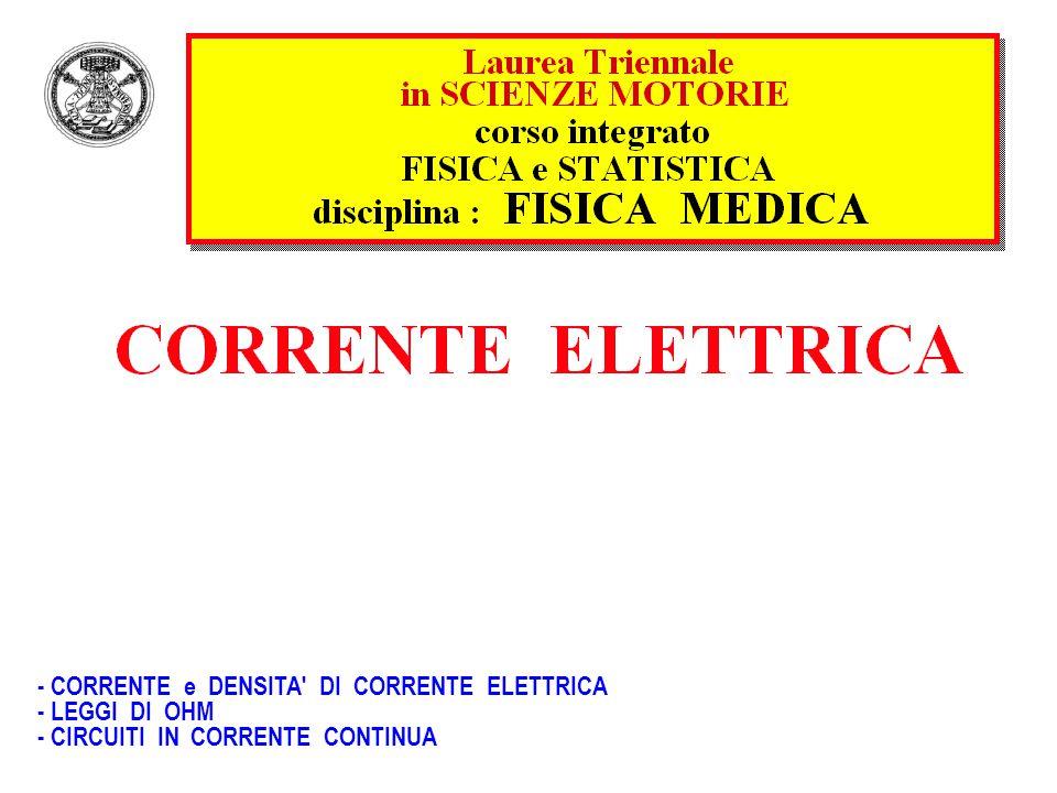 1 ampere = C s–1 = C (1.6 10–19 C/elettrone) s–1 =