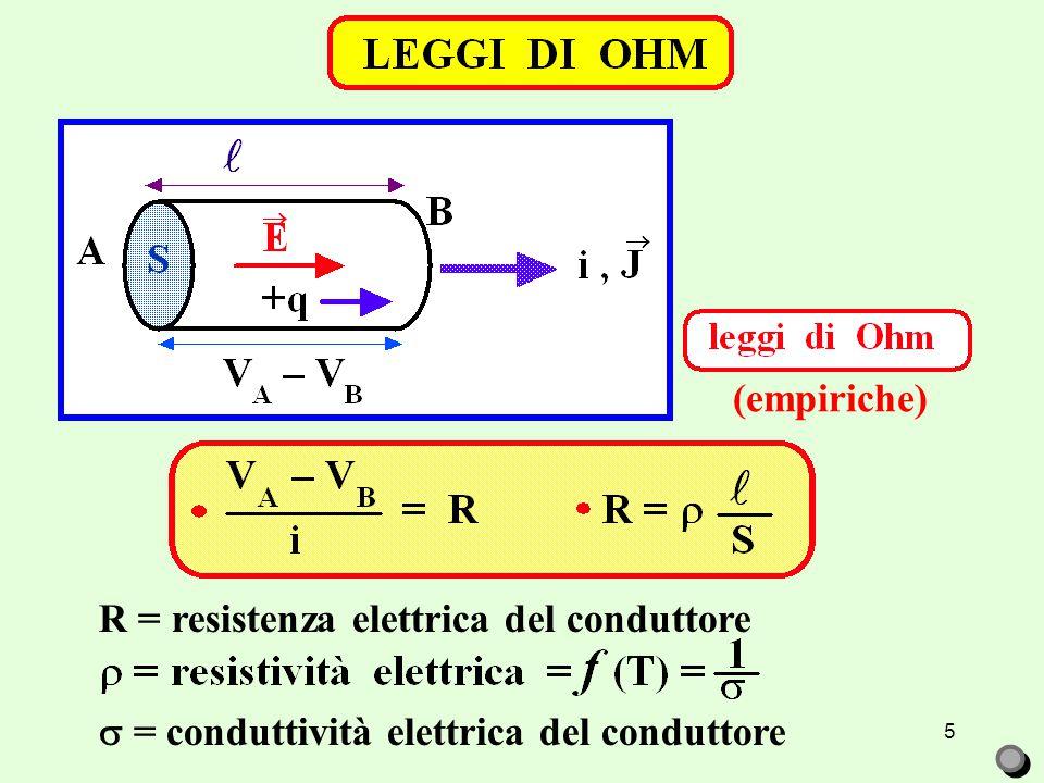 R = resistenza elettrica del conduttore