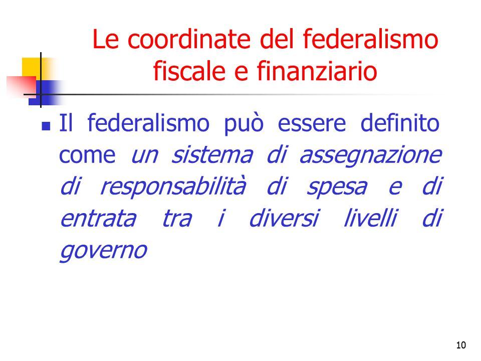 Le coordinate del federalismo fiscale e finanziario