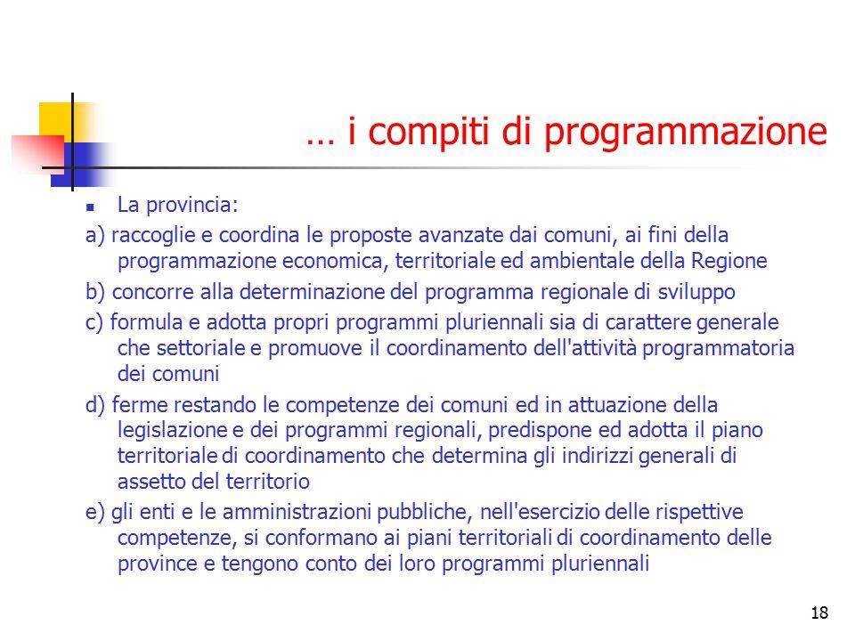 … i compiti di programmazione
