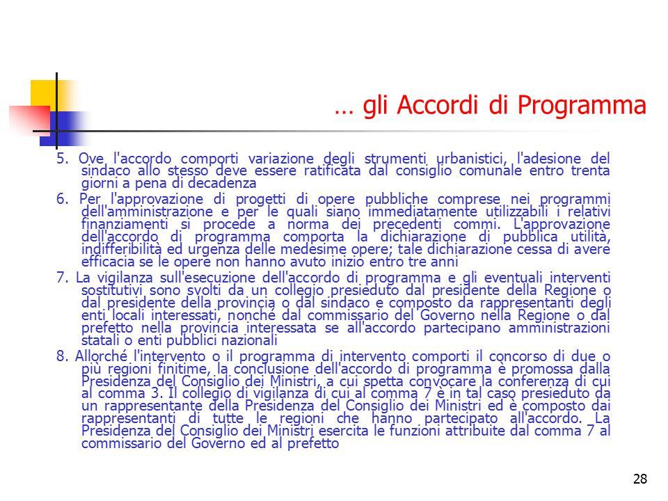 … gli Accordi di Programma