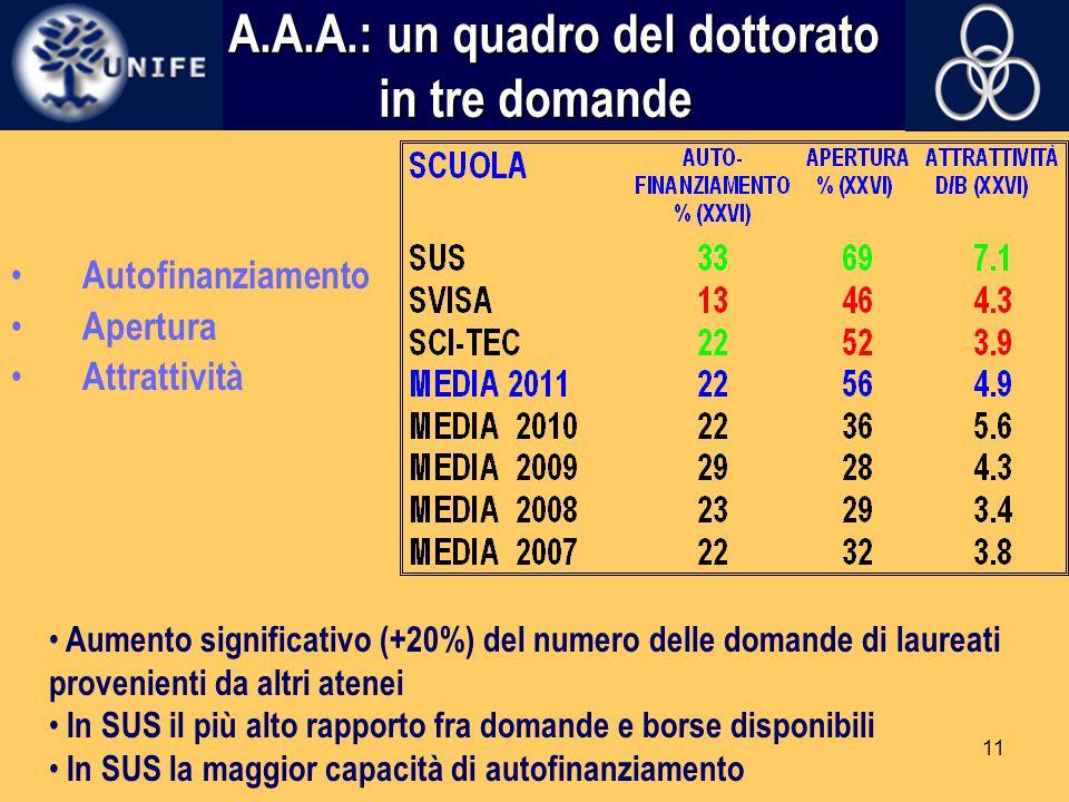 A.A.A.: un quadro del dottorato in tre domande