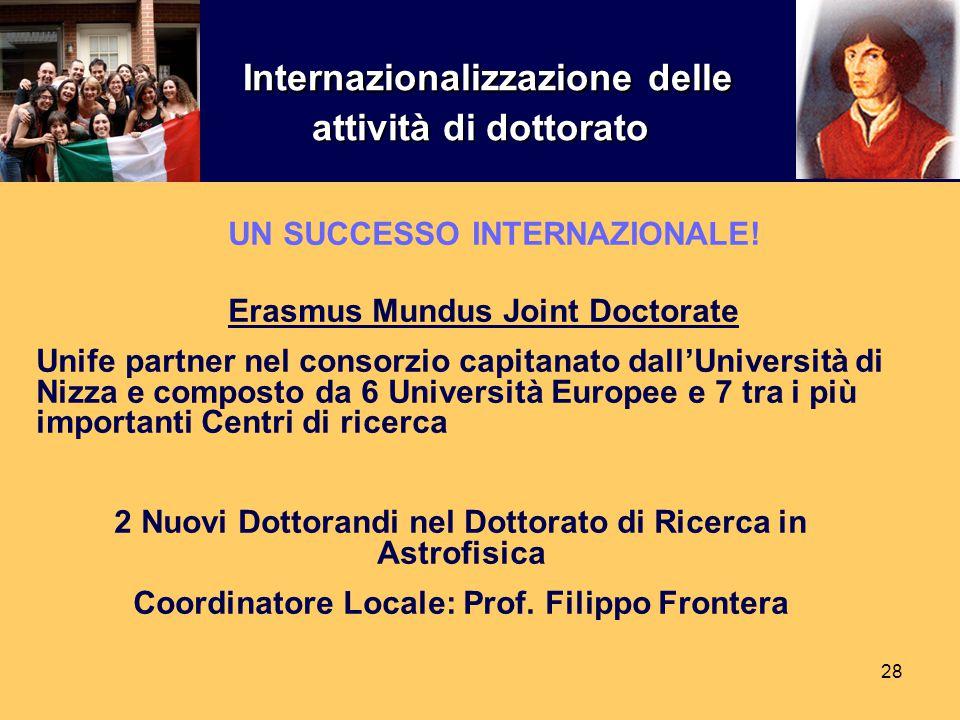 Internazionalizzazione delle attività di dottorato