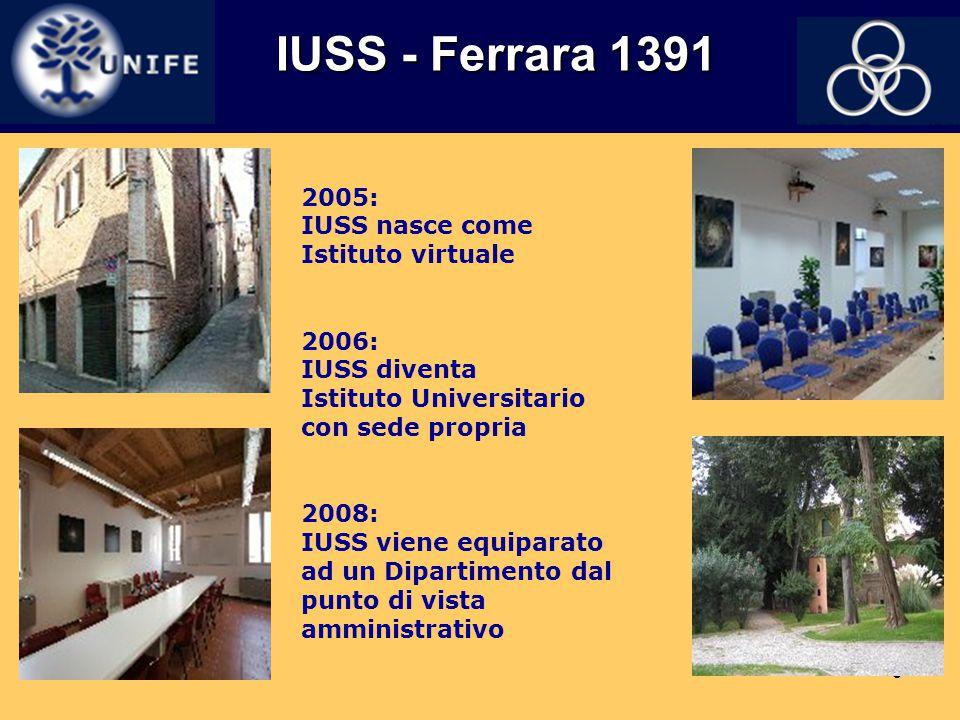 IUSS - Ferrara 1391 2005: IUSS nasce come Istituto virtuale 2006: