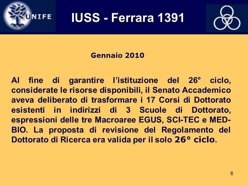 IUSS - Ferrara 1391 Gennaio 2010.