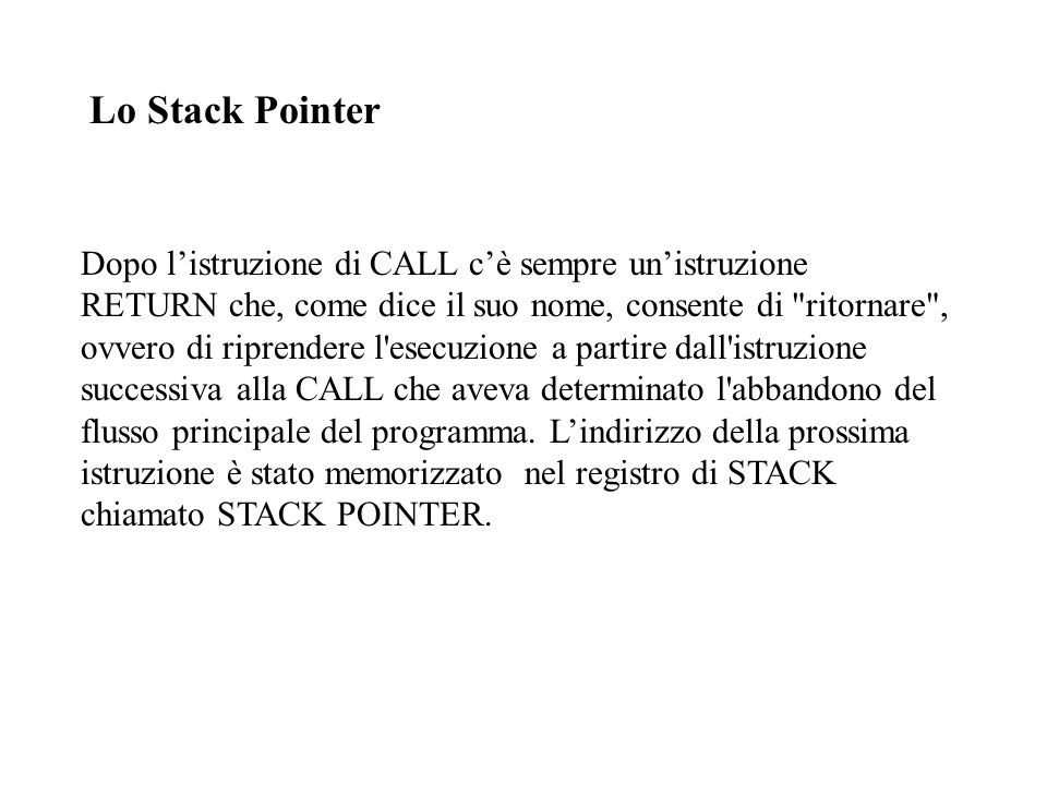 Lo Stack Pointer