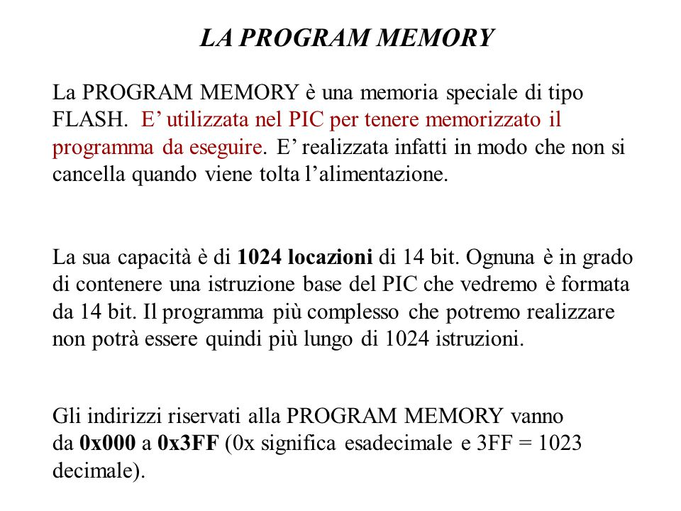 LA PROGRAM MEMORY