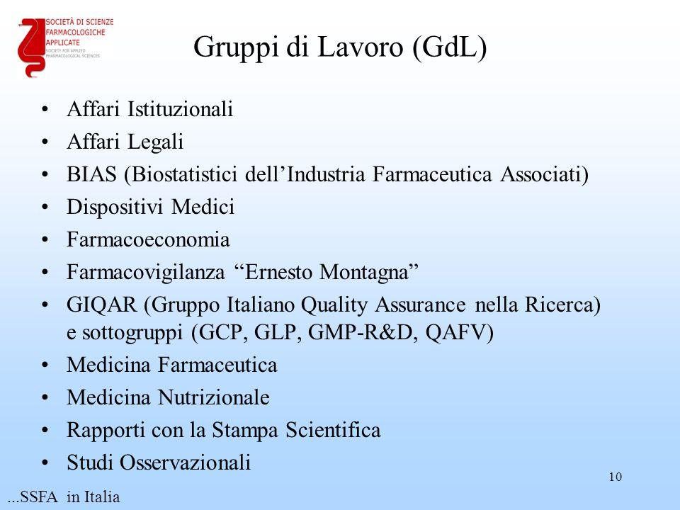 Gruppi di Lavoro (GdL) Affari Istituzionali Affari Legali