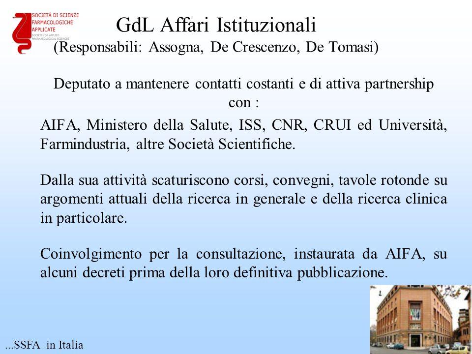 GdL Affari Istituzionali (Responsabili: Assogna, De Crescenzo, De Tomasi)