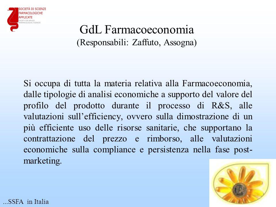 GdL Farmacoeconomia (Responsabili: Zaffuto, Assogna)