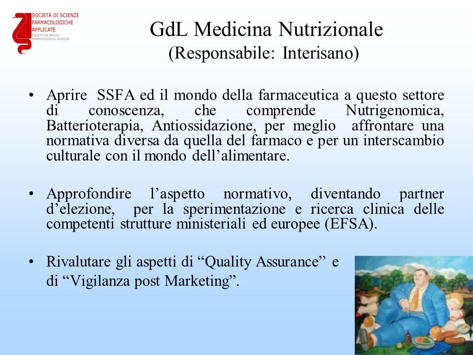 GdL Medicina Nutrizionale (Responsabile: Interisano)