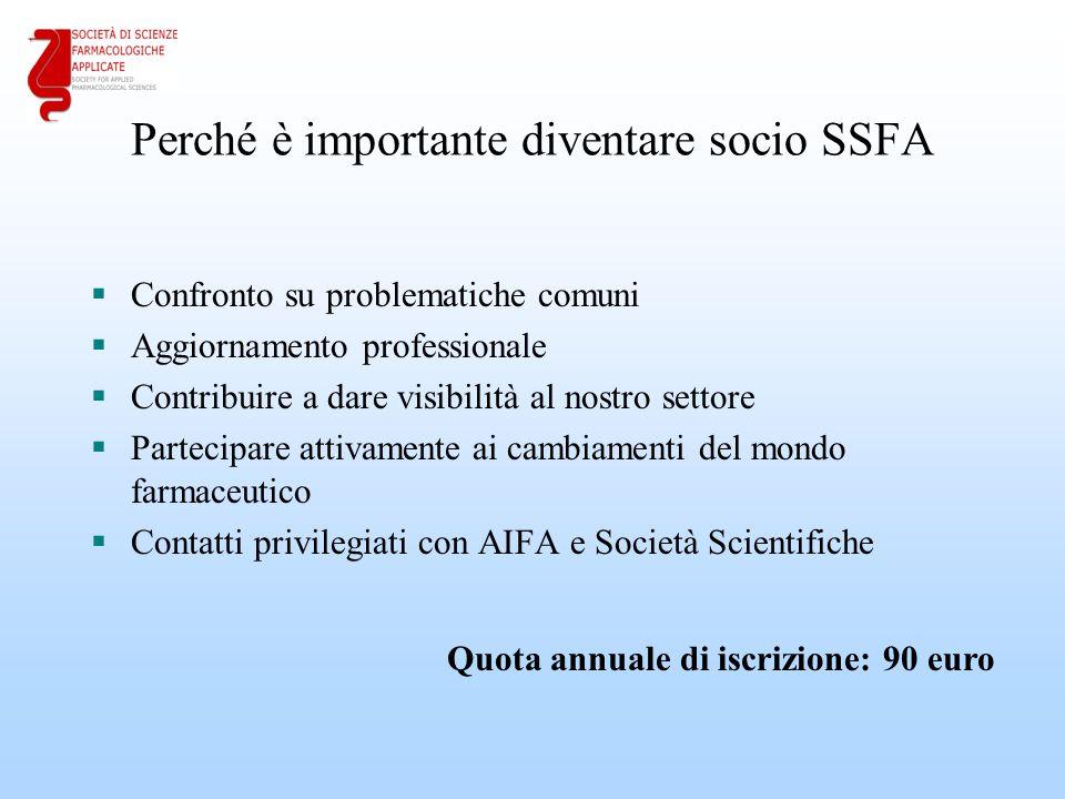Perché è importante diventare socio SSFA