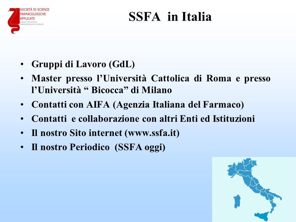 SSFA in Italia Gruppi di Lavoro (GdL)