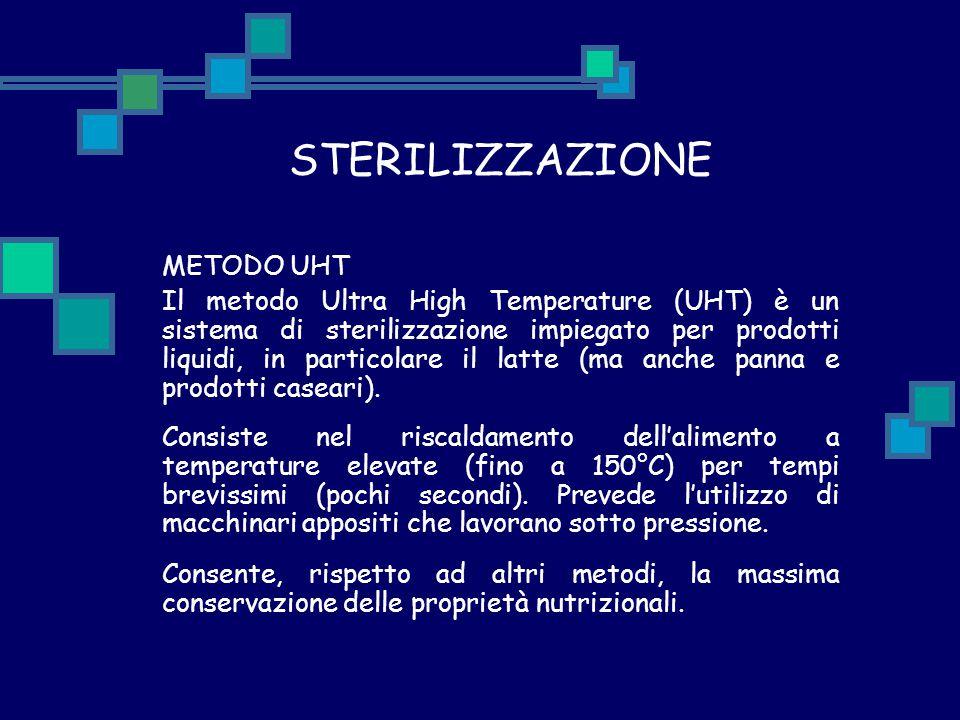 STERILIZZAZIONE METODO UHT