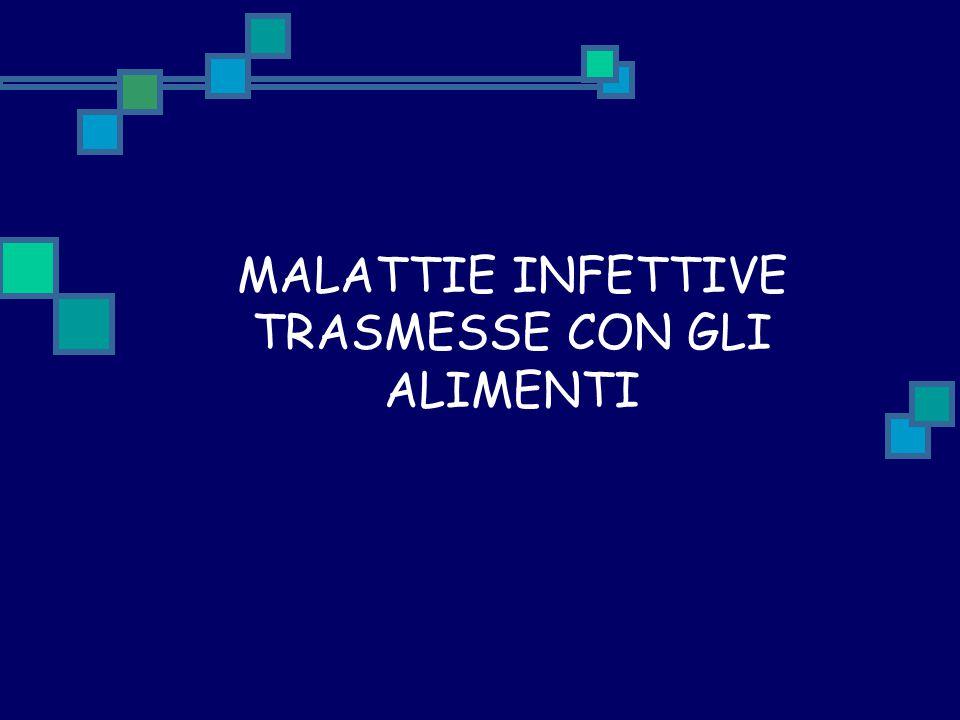 MALATTIE INFETTIVE TRASMESSE CON GLI ALIMENTI