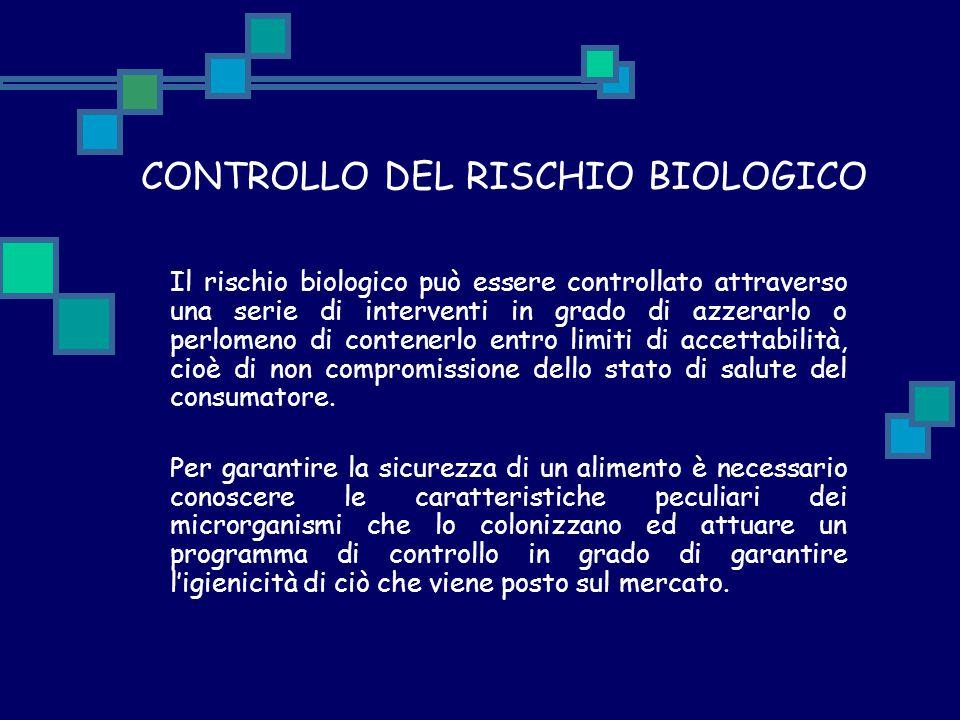 CONTROLLO DEL RISCHIO BIOLOGICO
