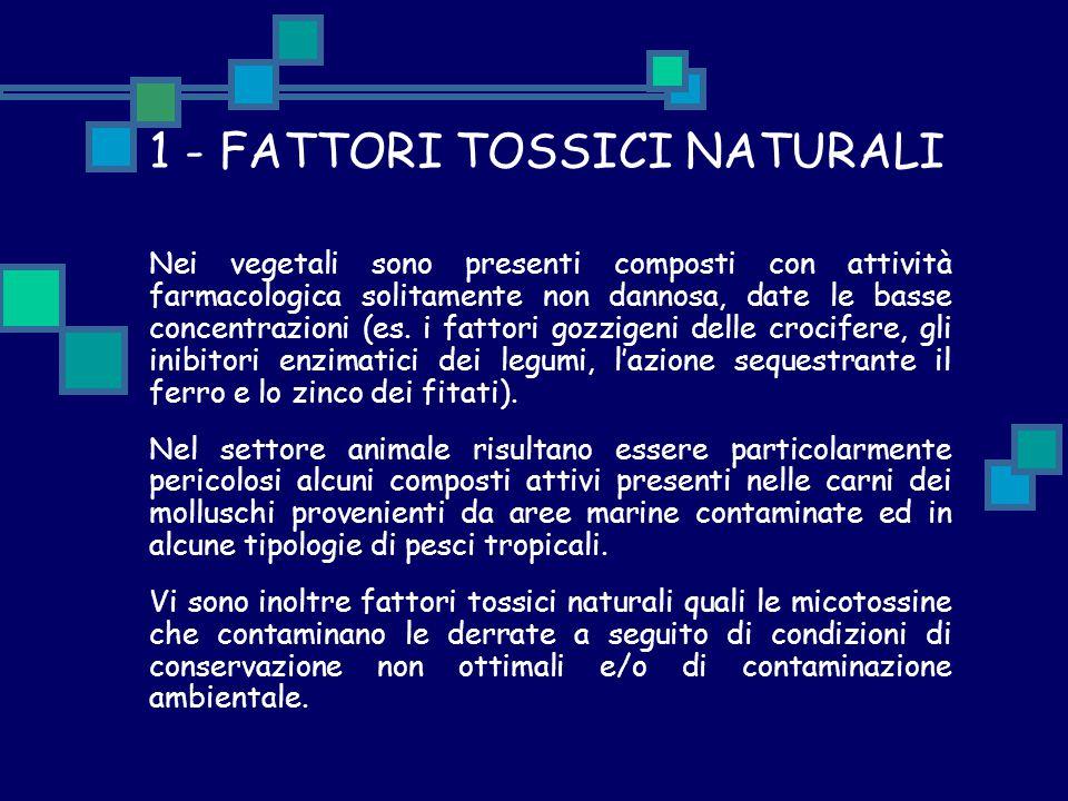 1 - FATTORI TOSSICI NATURALI
