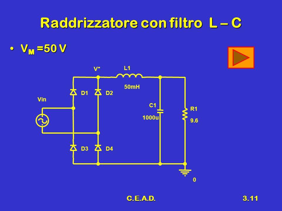 Raddrizzatore con filtro L – C