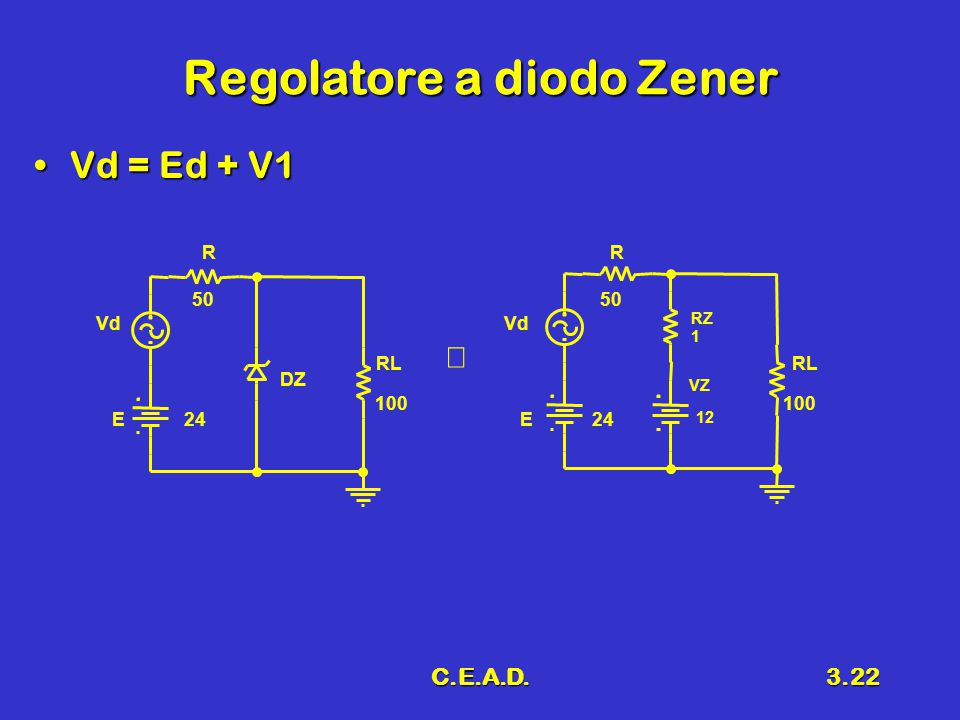 Regolatore a diodo Zener