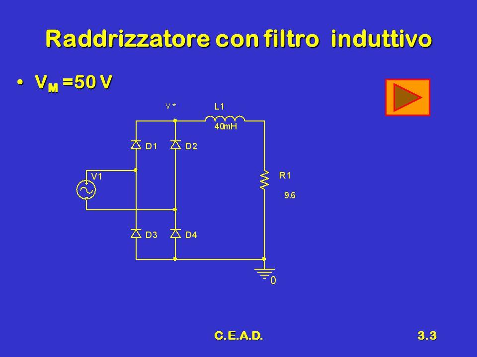 Raddrizzatore con filtro induttivo