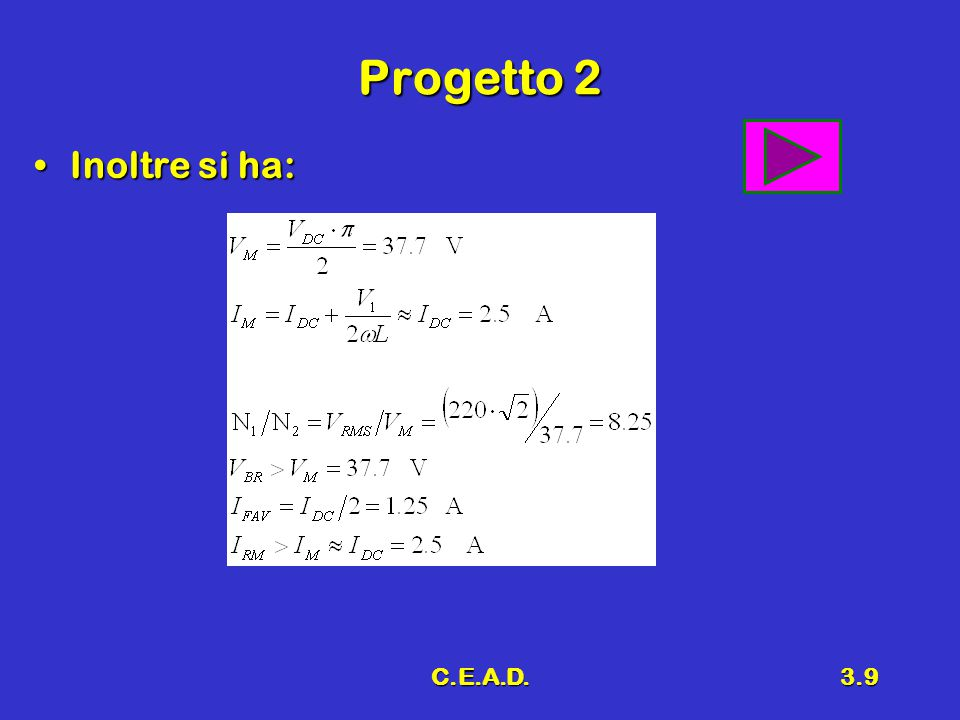 Progetto 2 Inoltre si ha: C.E.A.D.