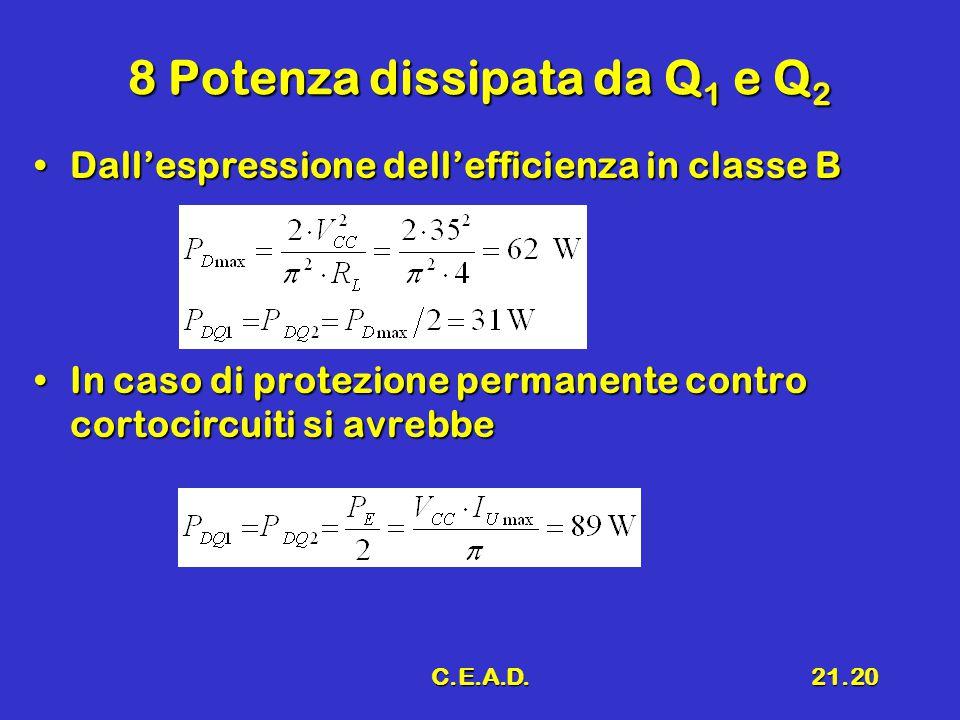 8 Potenza dissipata da Q1 e Q2