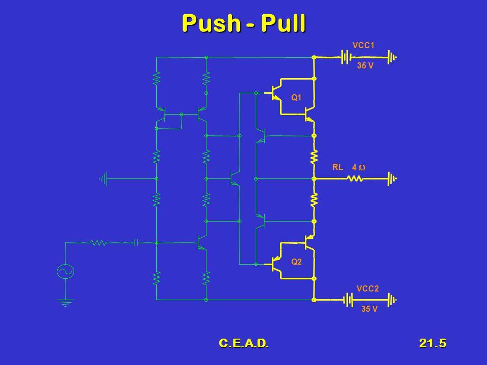 Push - Pull VCC1 35 V Q1 RL 4  Q2 VCC2 35 V C.E.A.D.