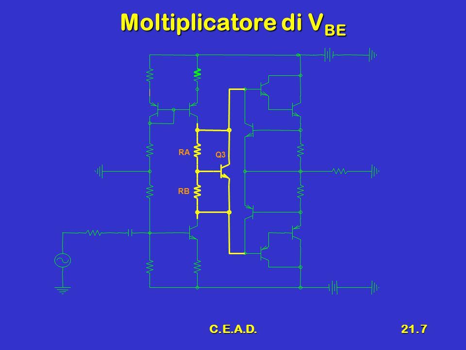 Moltiplicatore di VBE RA Q3 RB C.E.A.D.