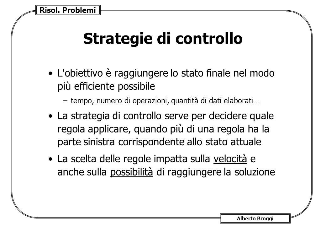 Strategie di controllo