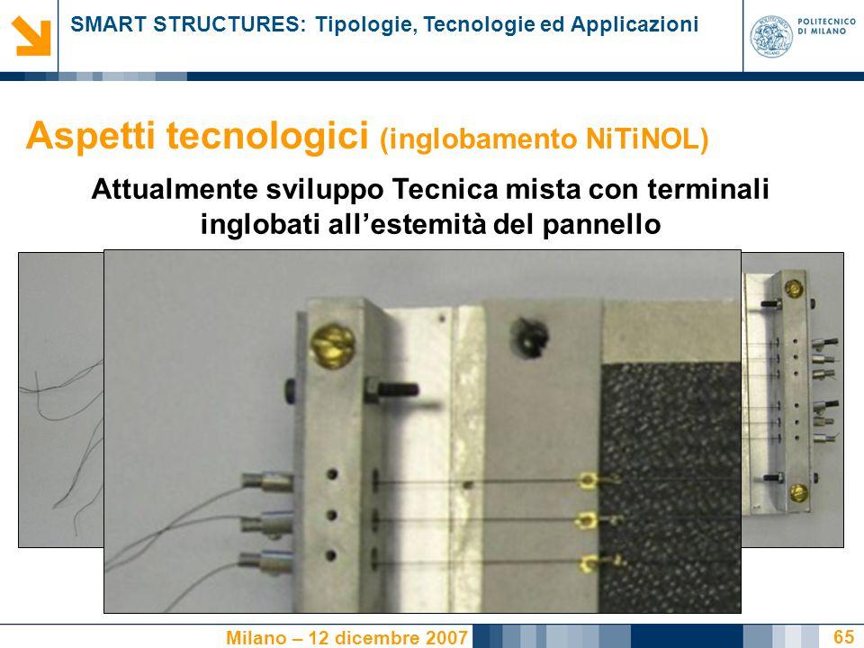 Aspetti tecnologici (inglobamento NiTiNOL)