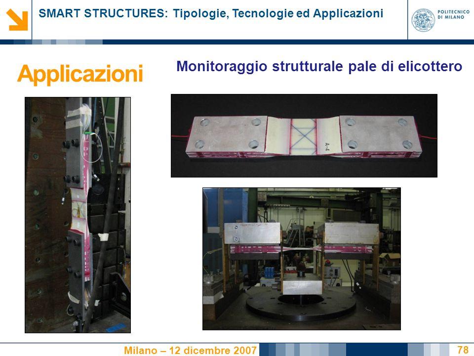 Applicazioni Monitoraggio strutturale pale di elicottero