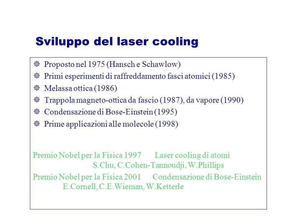 Sviluppo del laser cooling