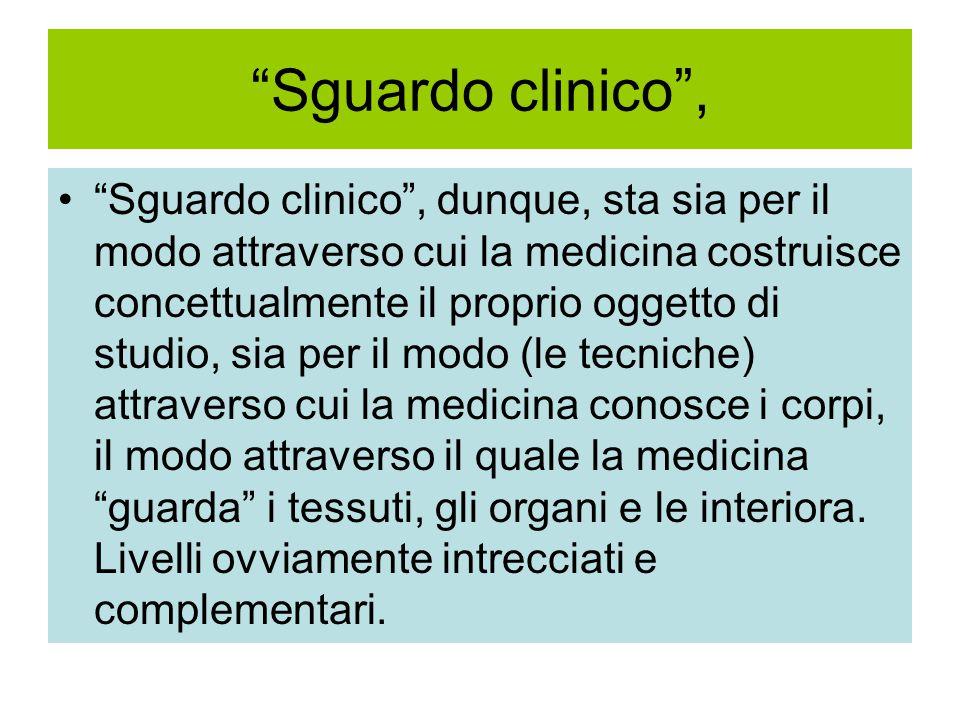 Sguardo clinico ,