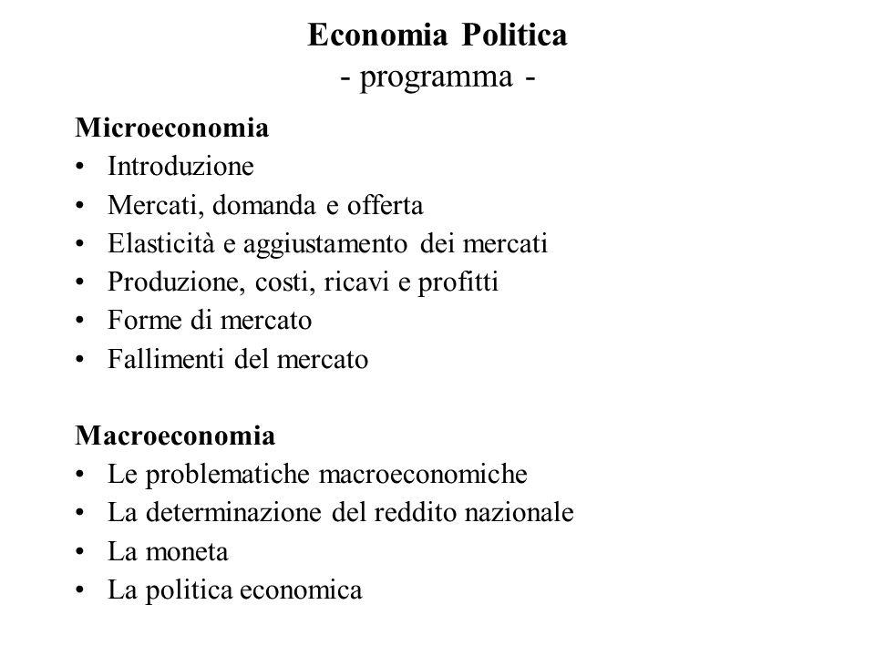 Economia Politica - programma -