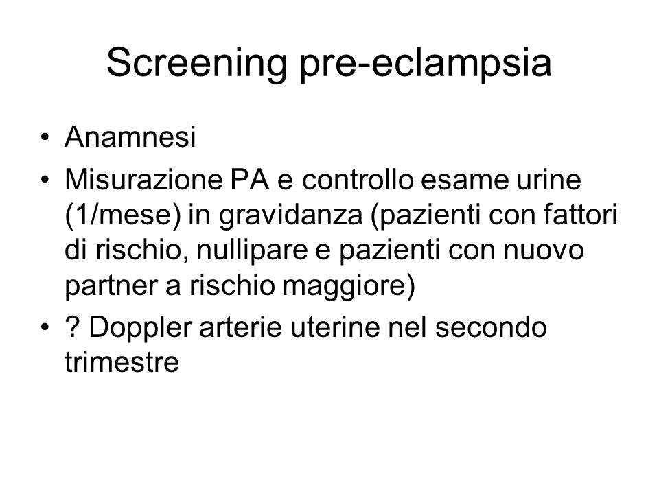 Screening pre-eclampsia