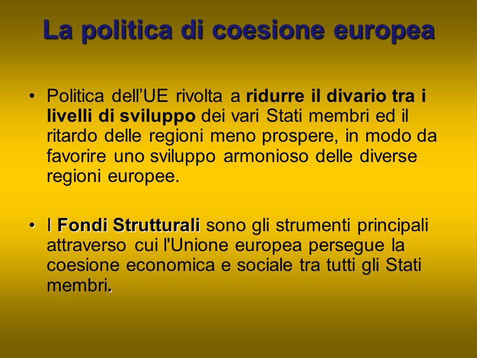 La politica di coesione europea