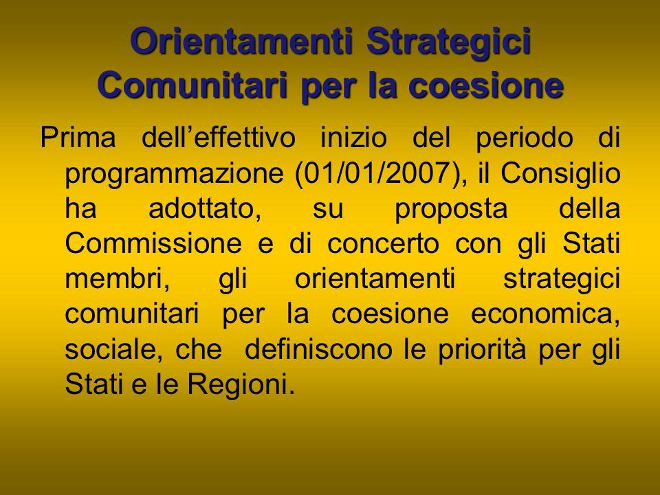 Orientamenti Strategici Comunitari per la coesione