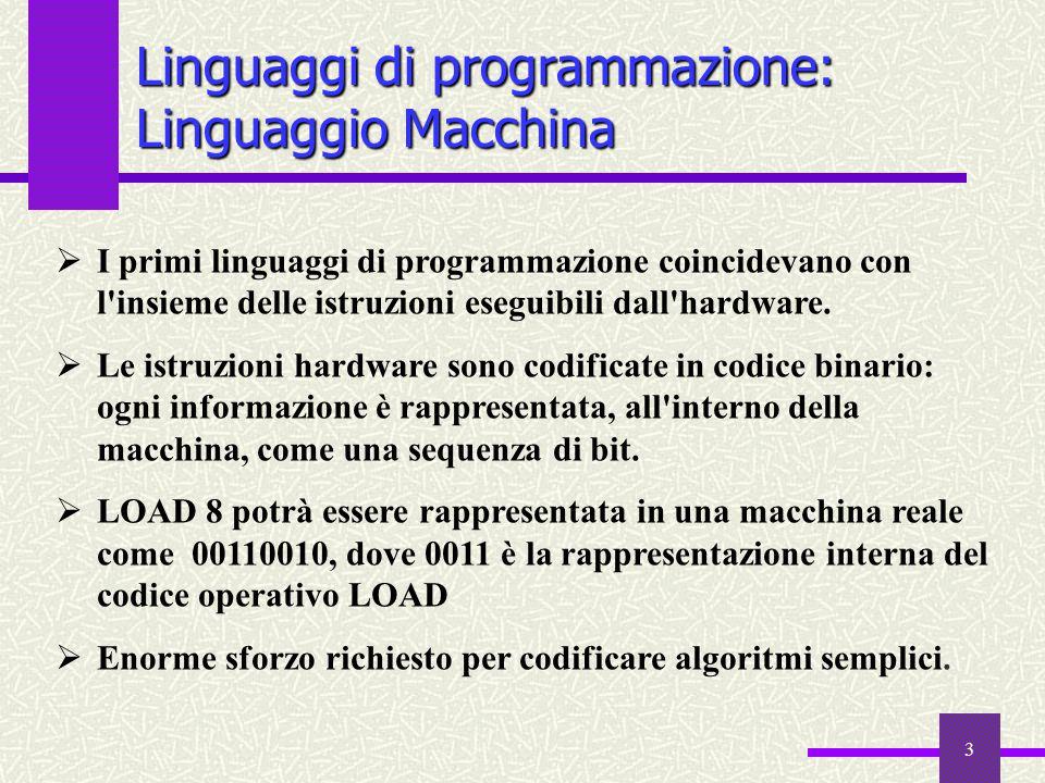 Linguaggi di programmazione: Linguaggio Macchina