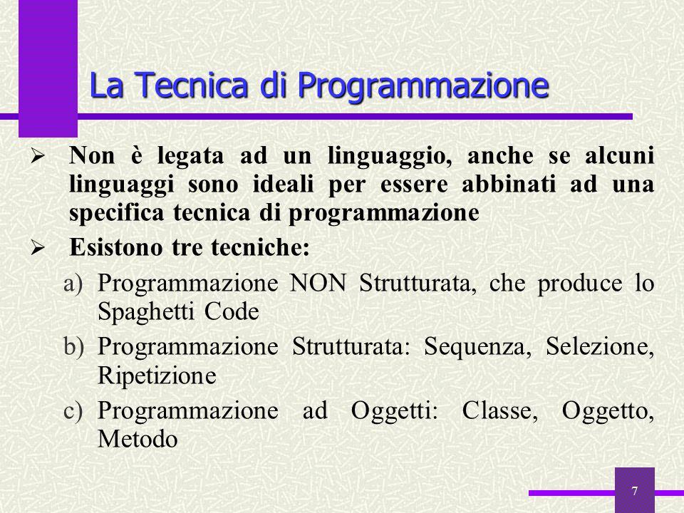 La Tecnica di Programmazione