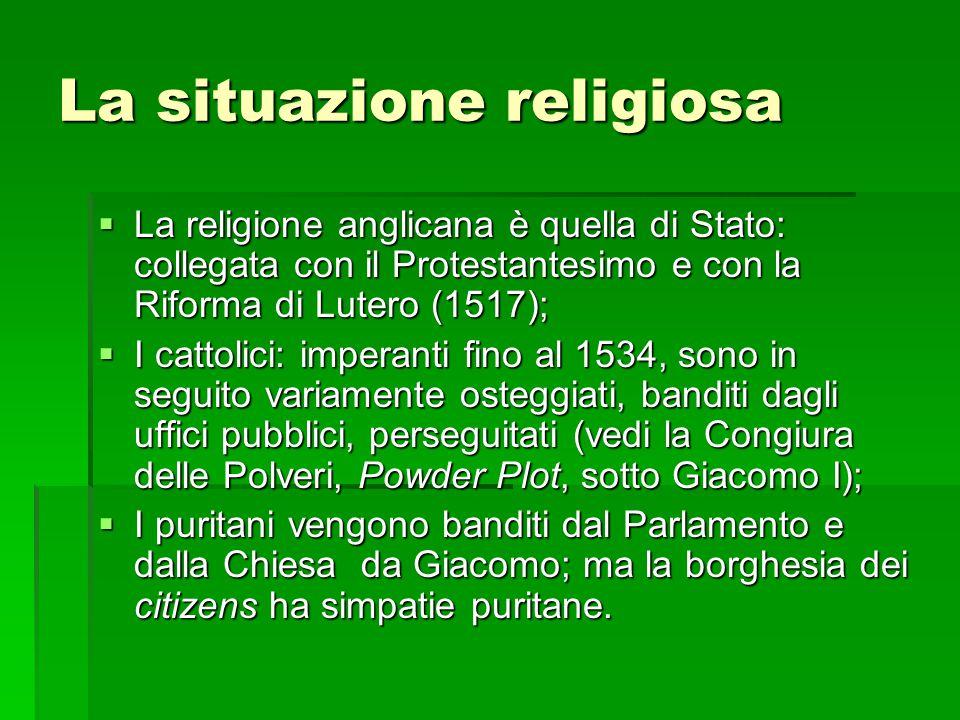 La situazione religiosa