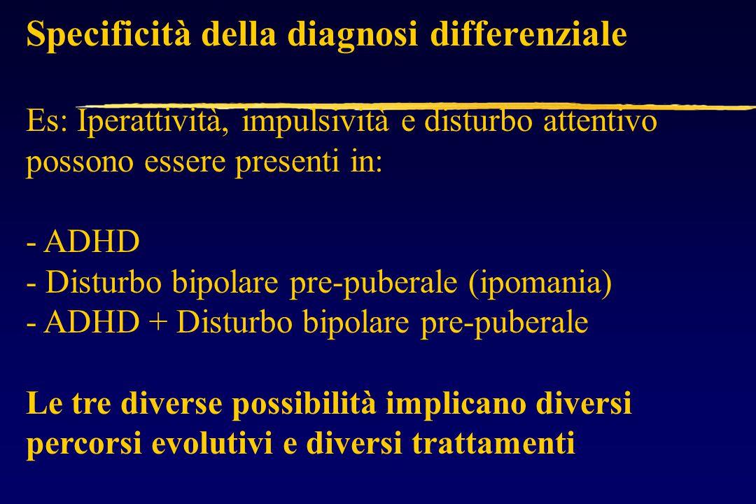 Specificità della diagnosi differenziale
