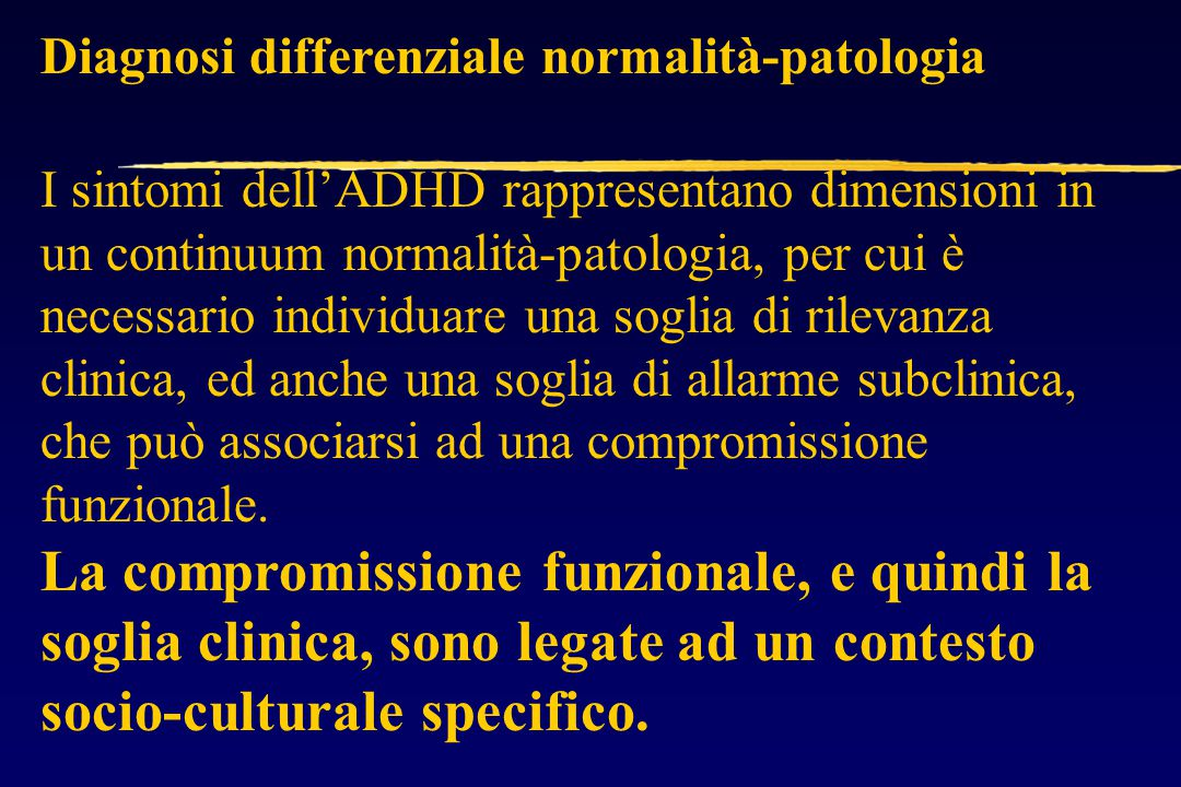 Diagnosi differenziale normalità-patologia